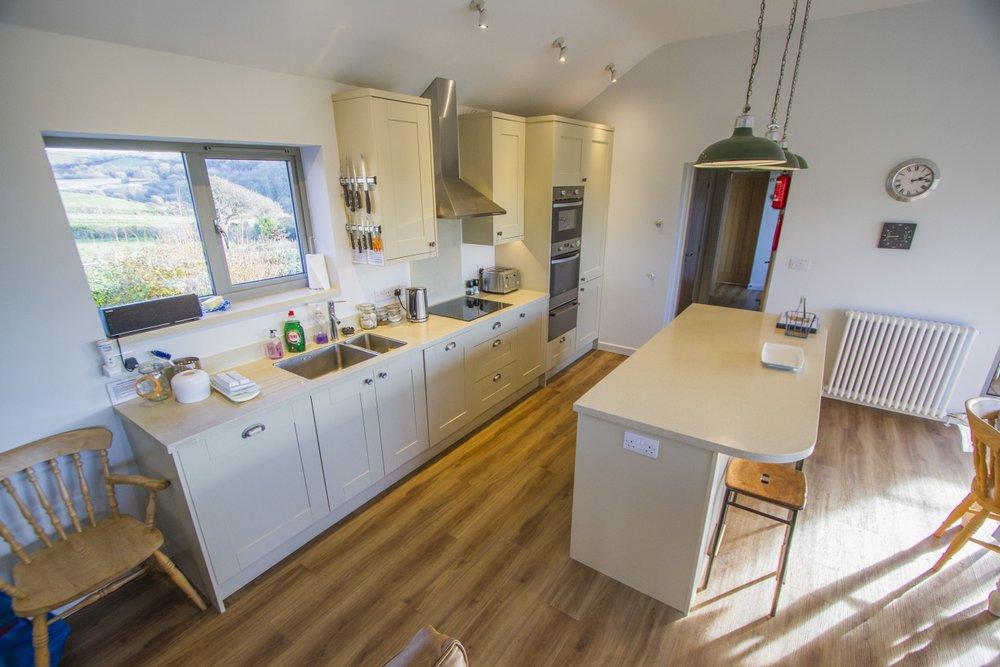 Kitchen area of main house